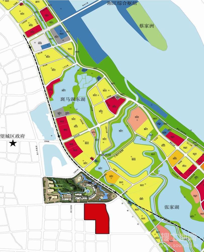 长沙市区行政地图